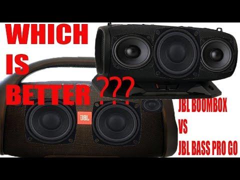JBL BOOMBOX, JBL Bass Pro Go - TWO MONSTERS!!! - Comparison