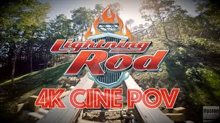 lightning rod new for 2016 rmc launched wooden roller coaster 4k cine pov dollywood