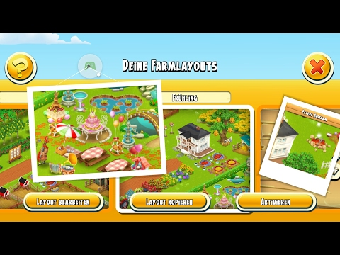 Let's play Hay Day Deutsch Farm layout Frühling Spring Park
