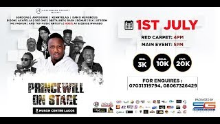 'PRINCEWILL ON STAGE' HITS LAGOS WITH TOP COMEDIANS & ARTISTES