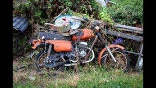 ПОХОД НА СВАЛКУ МЕТАЛЛОЛОМА #12 НАШЕЛ КУЧУ РЕТРО ЗАПЧАСТЕЙ НА МОТОЦИКЛЫ Abandoned motorcycle