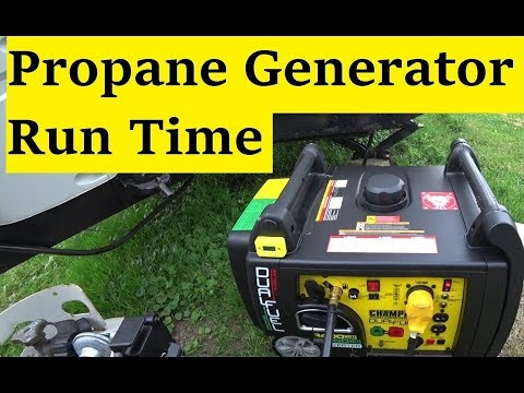 Champion 100263 Propane generator run time test