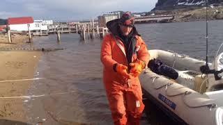 Морская рыбалка Баренцево море Трофейная треска 23 кг