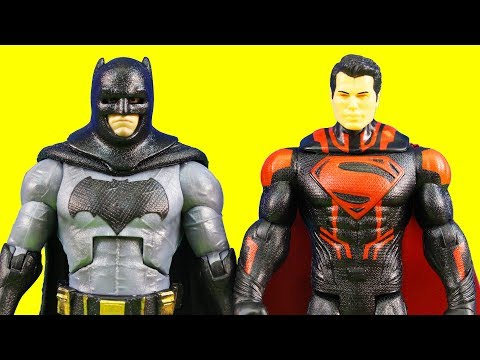 Batman Toy Action Figure Collection Batman V Superman & Wonder Woman + Fidget Spinner Knockdown