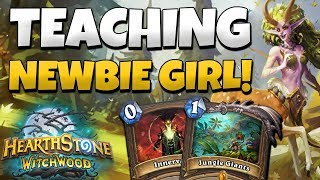 Newbie Girl Builds a Deck and I Have to Win With it! | Beginner Friendly Hearthstone Deck Building