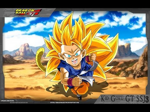 Super Saiyan 3 Goku (GT) SA LV 10 Showcase L Dragon Ball Z Dokkan Battle