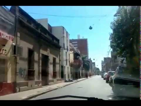 Santa Fe, Argentina-Driving along the neighborhoods streets