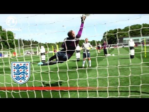 Joe Hart, Robert Green & Tom Heaton Stop Shots | Inside Training