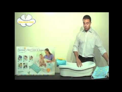 summer infant bath center shower youtube