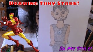 Drawing Tony Stark in My Style! (2019) 📝