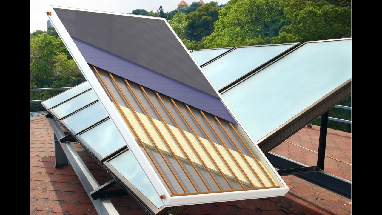 Flat Plate Solar Thermal Collector Youtube