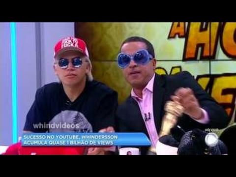 Whindersson Nunes Brinca com apresentadores no BALANÇO GERAL Pra rir Muito