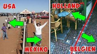 8 unglaubliche Grenzen zwischen verschiedenen Ländern auf der ganzen Welt!