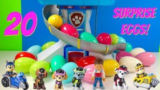 20 Paw Patrol Surprise Eggs Learn Colors for Children with Pups | Fizzy Fun Toys