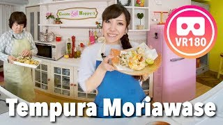 Tempura Moriawase (Assorted Tempura with Seafood and Vegetables Recipe)   VR180 Cooking