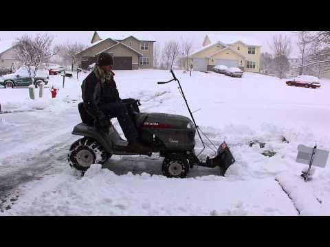 Murray Lawn Tractor Riding Mower Plowing Snow Doovi
