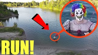 you won't believe what my drone caught on camera at clown lake (it's living in the water)