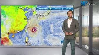 Super-Taifun Kong-Rey trifft auf Japan und Südkorea (Wetter-Spezial, Mod.: Alexander Hübener)