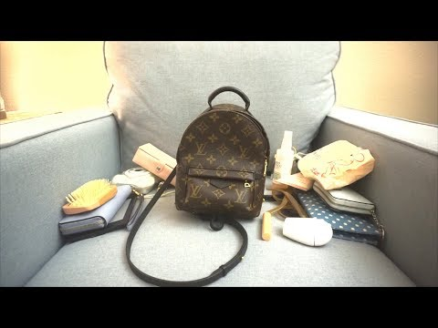 WIMB| Whats in My Bag? Louis Vuitton Palm Springs Mini | Travel Essentials