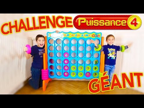 CHALLENGE PUISSANCE 4 GÉANT - Swan VS Néo - Giant Connect 4 - Mega 4 in line