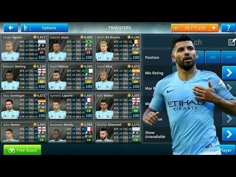how-to-hack-manchester-city-team-2018-19-●-all-players-100-●-dream-league-soccer-2019---new-update