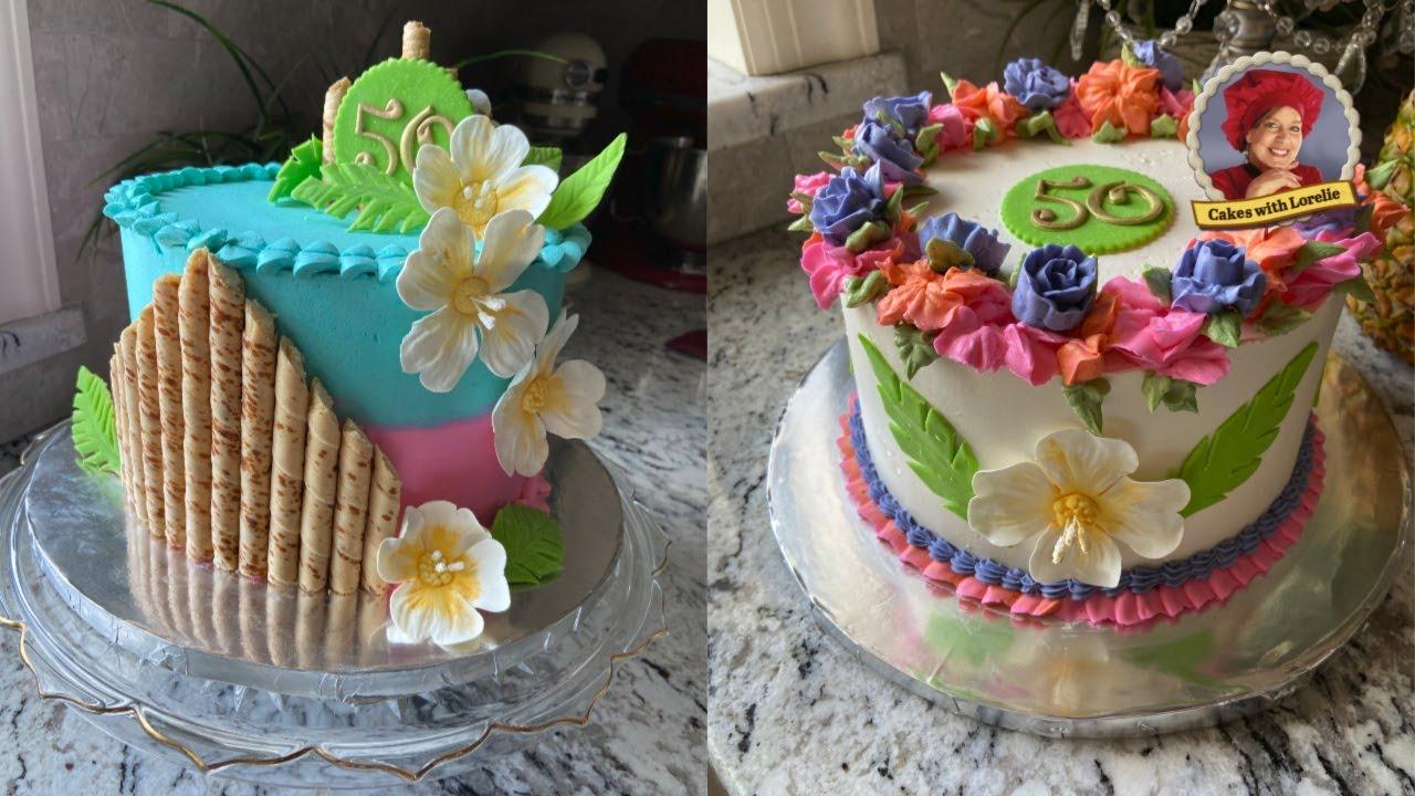 Two Hawaiian Cake Designs For Birthdays For One Lucky Birthday Girl Youtube