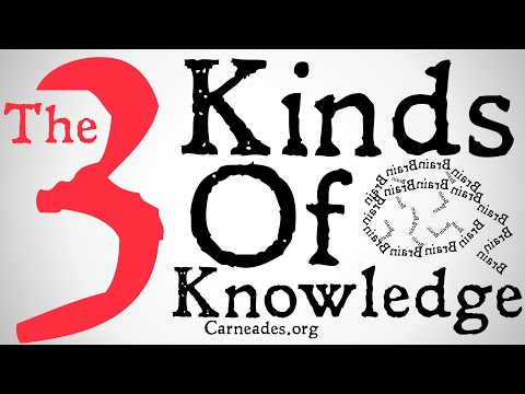 The Three Kinds of Knowledge (Knowledge That, Knowledge Of, and Knowledge How)