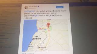 Israeli War Planes Strike Hezbollah in Syria