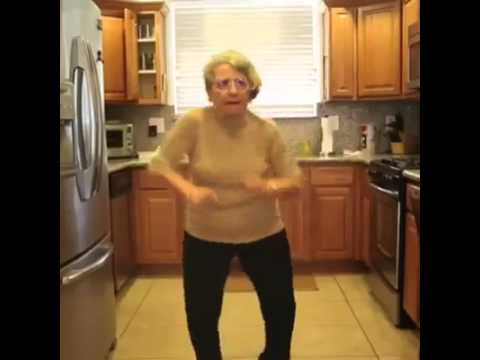 Old people dancing in the kitchen. #4ThaBytches