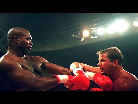 Tommy Morrison vs Donovan Ruddock - Highlights (Great SLUGFEST & KNOCKOUT)