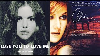 Feel the pain in her song but witness hope eyes. mashup of: lose you to love me - selena gomez my heart will go on celine dion