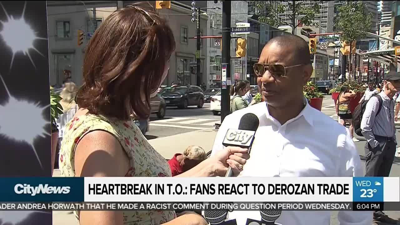 Heartbroken Toronto fans say goodbye to DeRozan