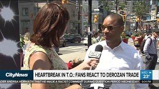 Heartbroken Toronto fans say goodbye to DeRozan