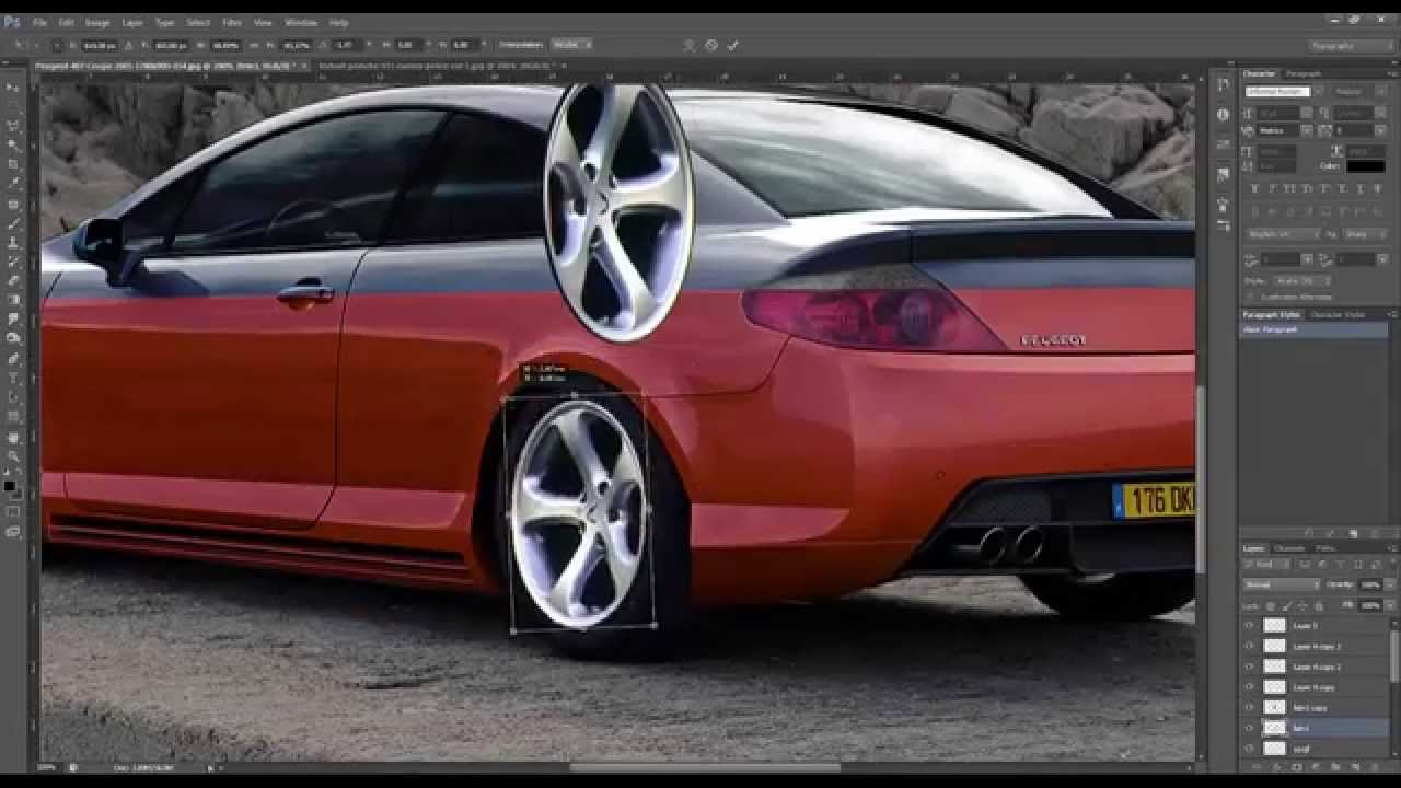 peugeot 407 coupe virtual tuning photoshop youtube. Black Bedroom Furniture Sets. Home Design Ideas