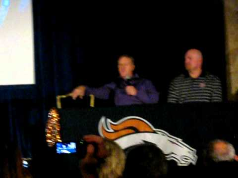 Questions for John Elway and Gary Zimmerman at Floyd Little