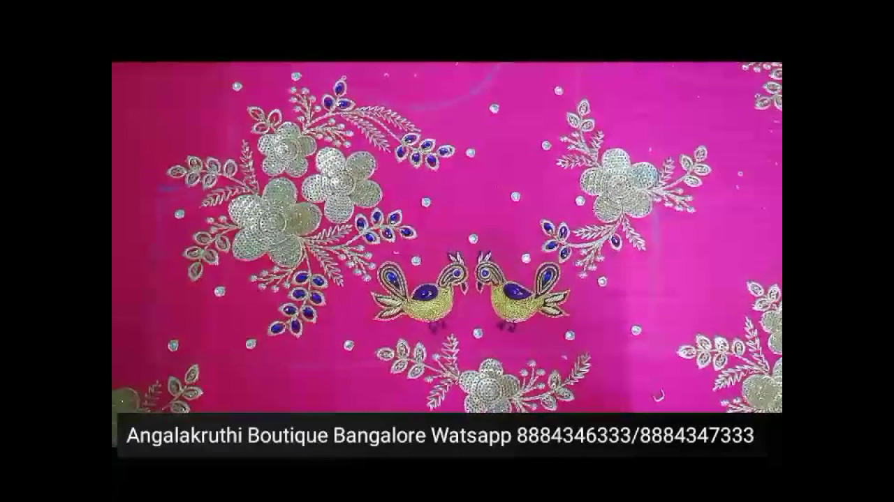 Hand Embroidery Designs For Kids Frock By Angalakruthi Youtube