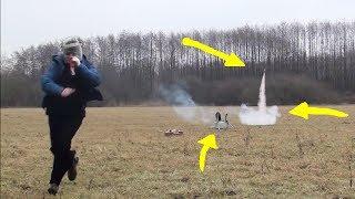 Odpalanie rakiet- czyli fajerwerki w akcji / jak tego nie robić