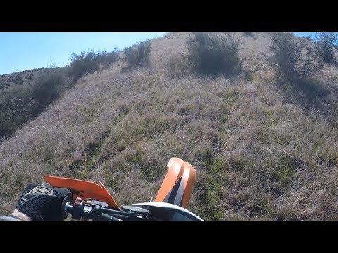 Meadow Grass and Narrow Canyon Riding   KTM 300 xc-w 2 Stroke