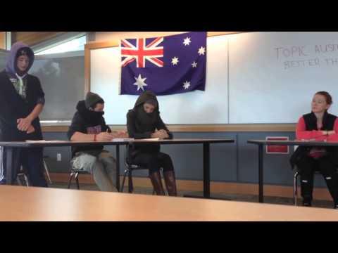 Aussie Debate Sample Video for BCS Invitational Tournament 2013