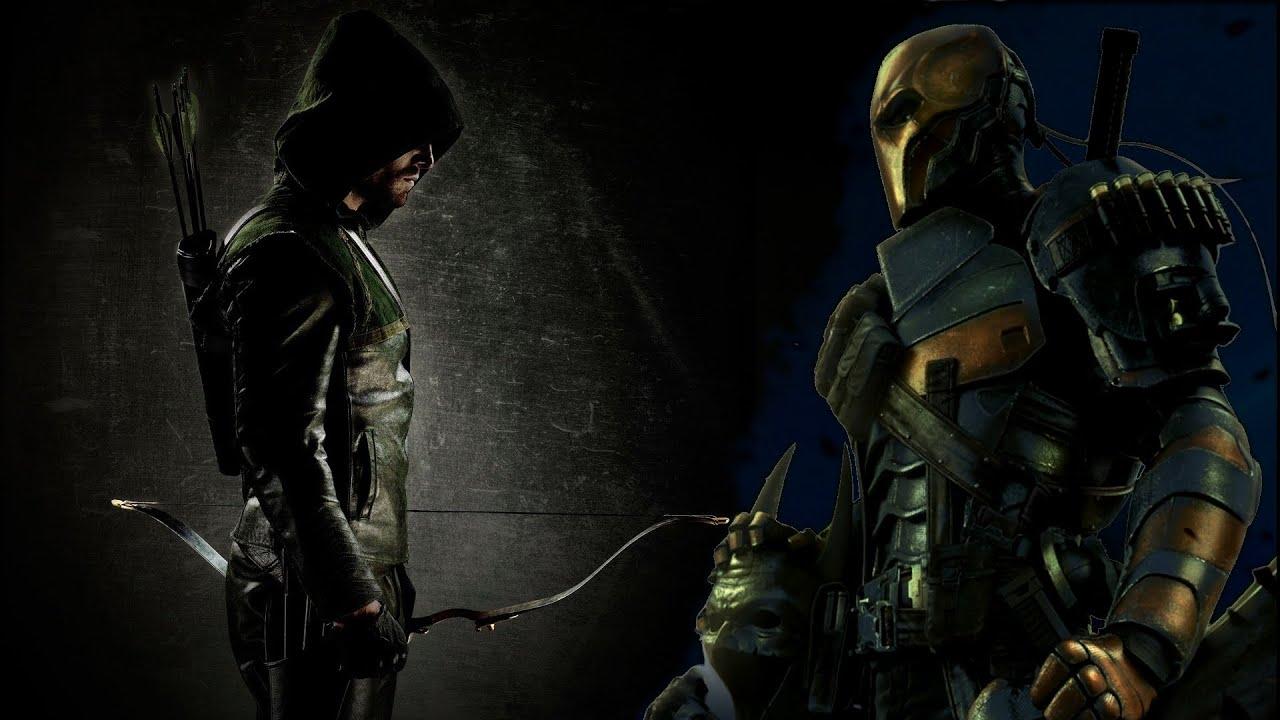 Green Arrow Vs Deathstroke Wallpaper