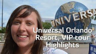 Universal Orlando Resort VIP tour Highlights