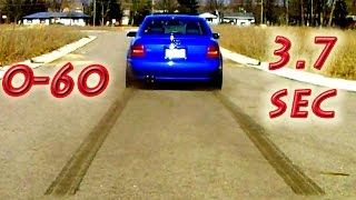 b5 audi s4 biturbo stage iii 0 60 mph 100 km h in less than 4 seconds awd launch burnout