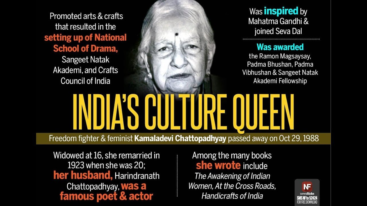 Kamaladevi Chattopadhyay Google Doodle In India Queen Culture Of