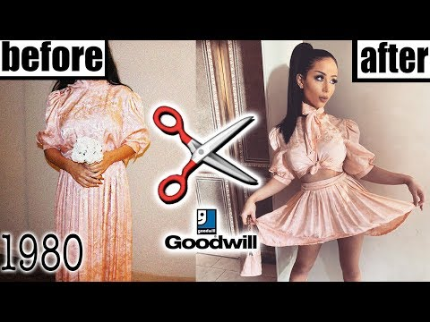 DIY 80'S BRIDESMAID DRESS MAKEOVER! - YouTube
