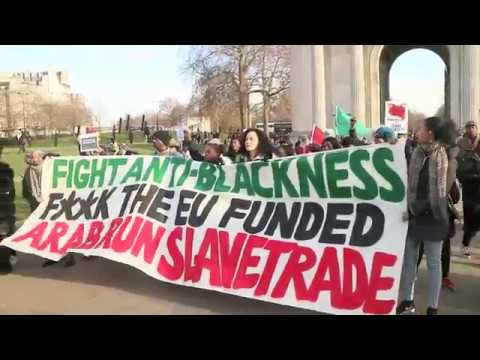 National anti slavery march against Libyan slave trade.