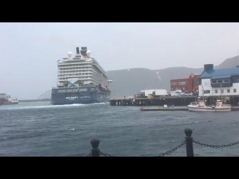 Her har cruiseskipet slitt seg