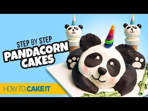 How To Make A Pandacorn CAKE & CAKEPOPS! By Cheryl & Cynthia | How To Cake It Step By Step