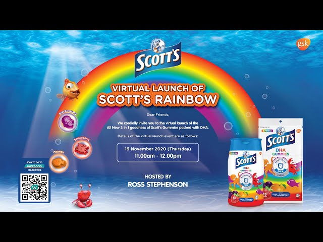 Scott's Gummies With DHA Rainbow Virtual Launch