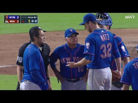 NYM@MIA: Matz leaves game with a blister in the 6th