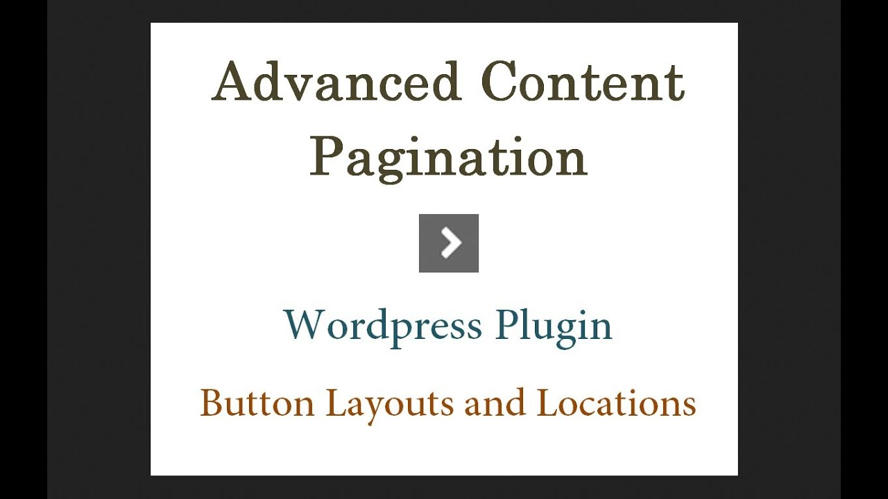 Wordpress Post Pagination Plugin